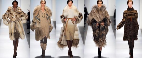 Модные шубы 2012.