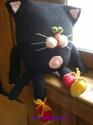 """игрушка-подушка """"Кот"""" своими руками, мастер-класс на фото 2"""