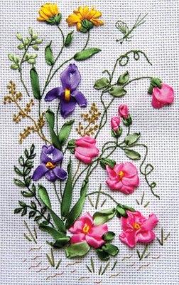 Silk-ribbon. много пошаговых схем вышивания цветов и др. элементов. все только о вышивке лентами.  Вышивка и рукоделие.