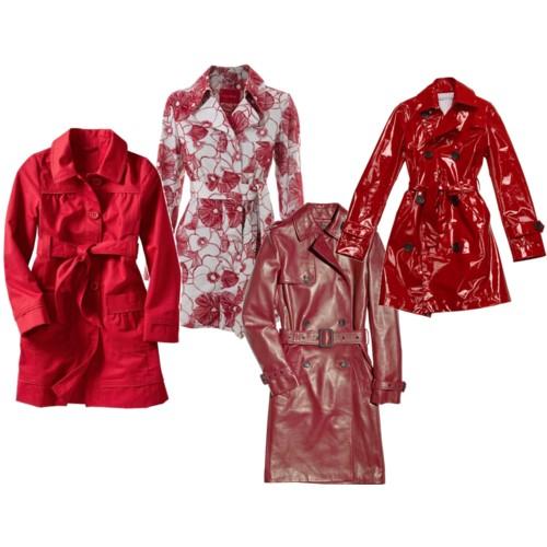 Модные тренчи 2010.