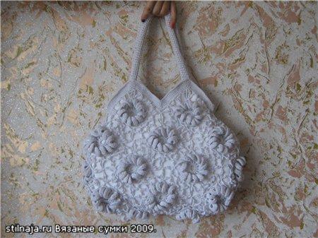 Модная тенденция 2011 года - летние вязаные сумки.
