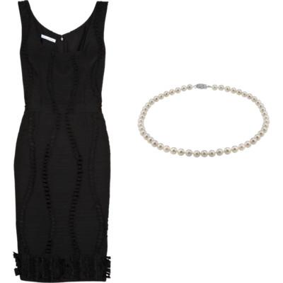 жемчуг для маленького черного платья
