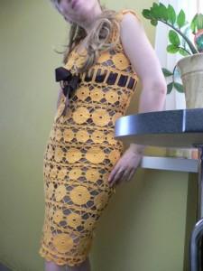 Вязаное платье на заказ.