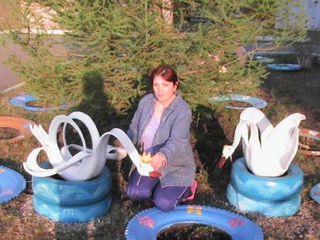 мастер класс лебедь из покрышки пошаговая инструкция фото 2