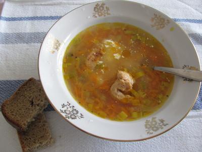 Морковный суп.