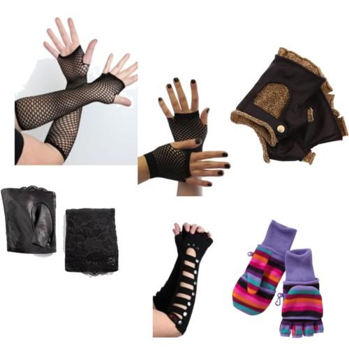 Перчатки митенки.