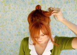 Бант из коротких волос