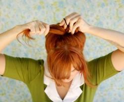 Прическа бант из волос видео