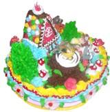 Торт украшенный сахарной мастикой.