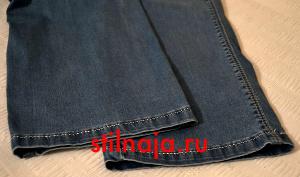 Как правильно подшить джинсы