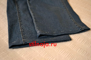 Как красиво подшить джинсы