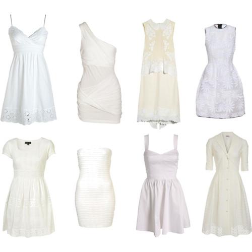С чем носить белое платье.