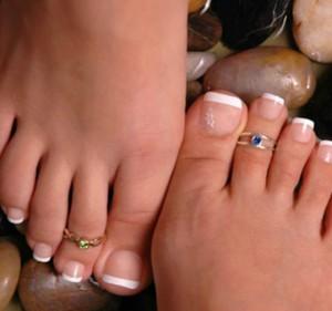 Кольцо на палец ноги золото