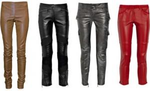 Модные тенденции осень-зима 2010/2011. Женские кожаные брюки.