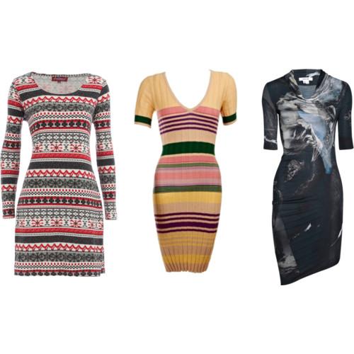 Платья из трикотажа 2012 2011: модные модели, фасоны платьев.